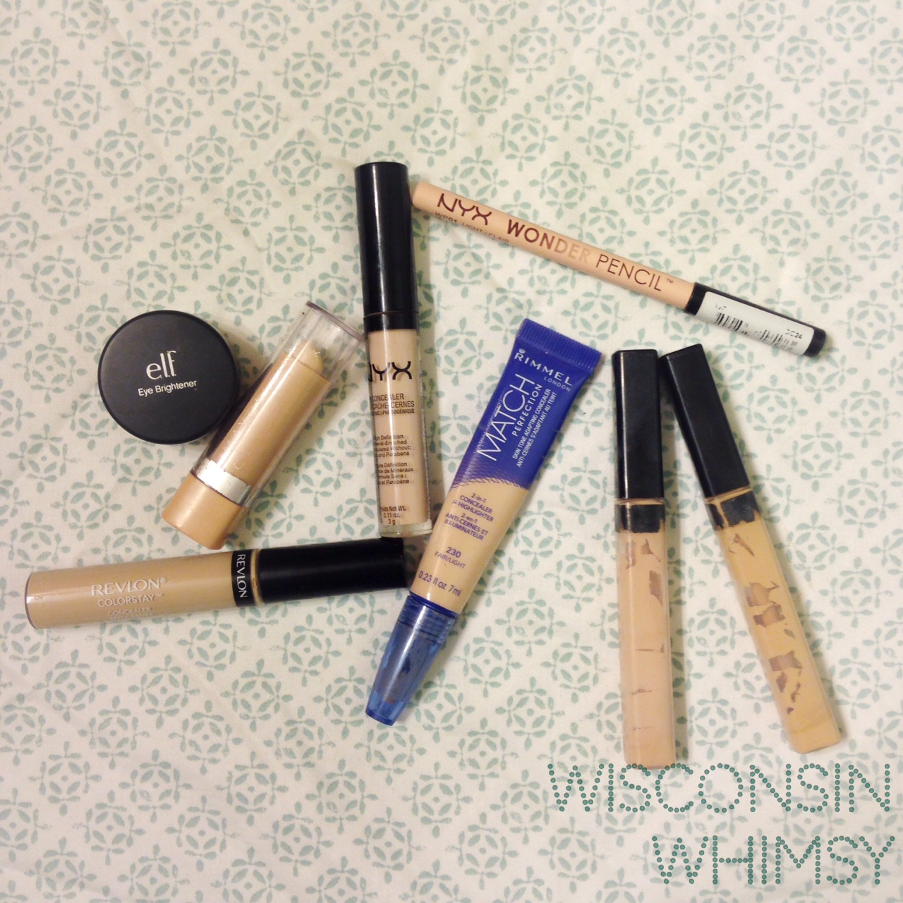 Battle Of The Eye Brightening Concealers Drugstore Wisconsinwhimsy Nyx Concealer Stick Eyes2